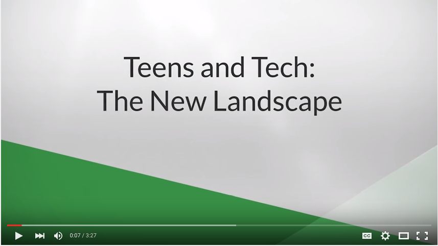 Teens and Tech: A New Landscape