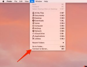 macOS Connect to Server