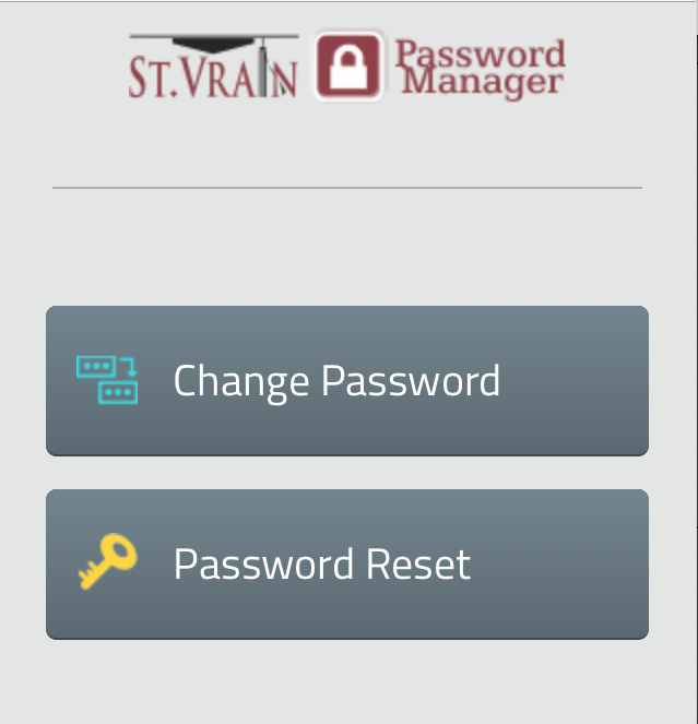Password manager screen shot