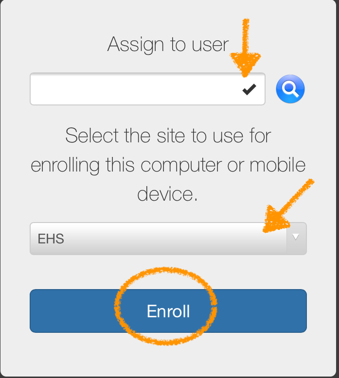 screenshot enroll device
