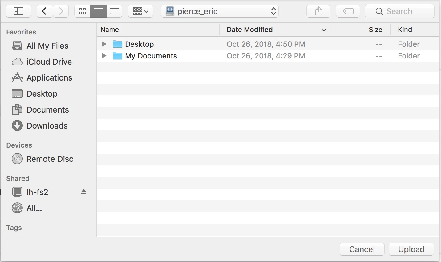 Image of files in share folder