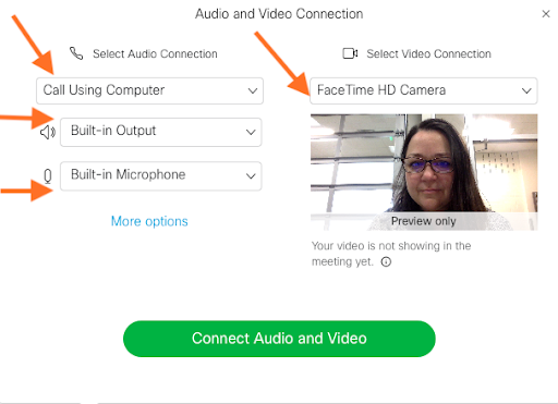 Audio and Video Connections