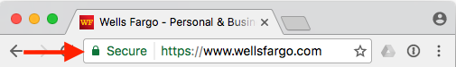 Chrome - Lock on left of address bar