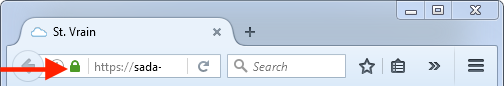 Firefox - Lock on left of address bar